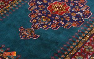 قالی آبی رنگ در دکوراسیون
