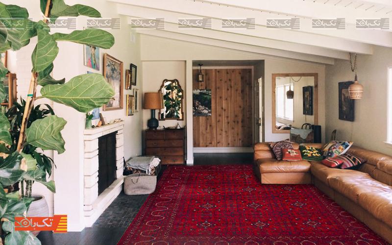 رنگ گرم قالی
